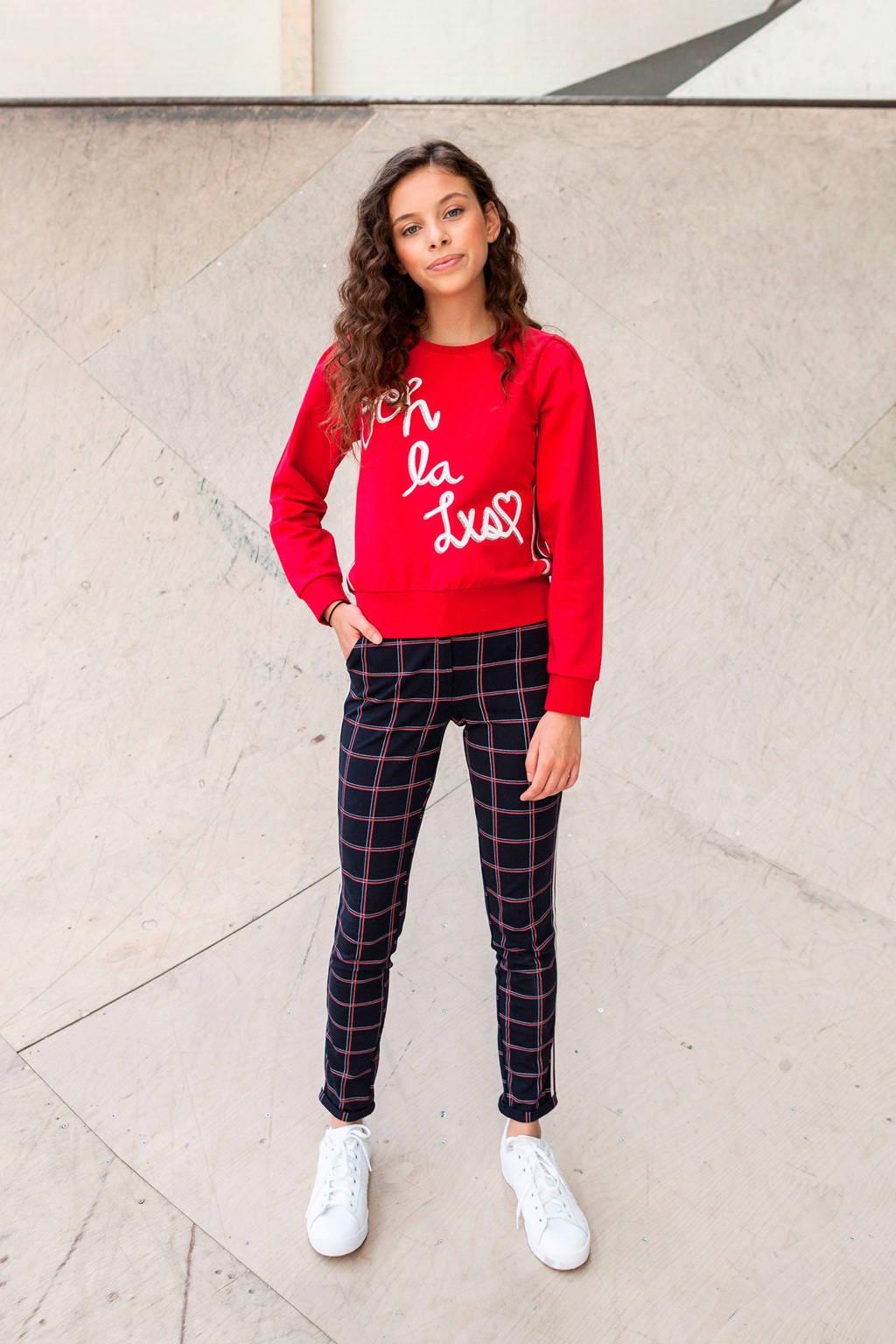 LOOXS sweater met contrastbies rood, Rood