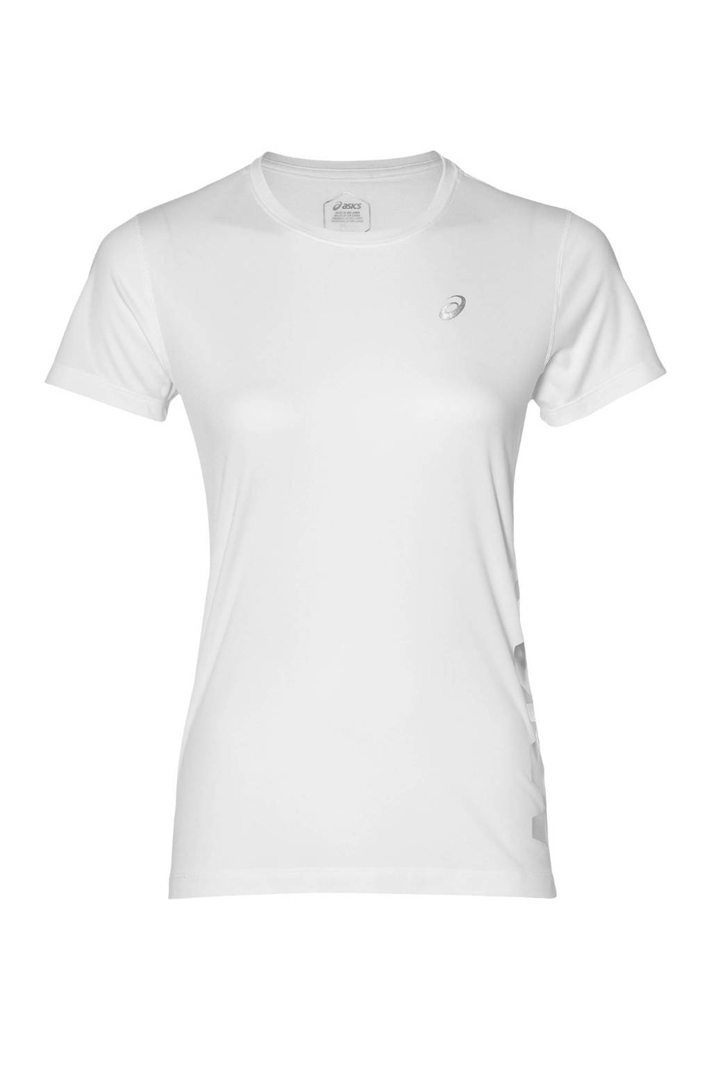 ASICS hardloop T-shirt wit, Wit/zilver