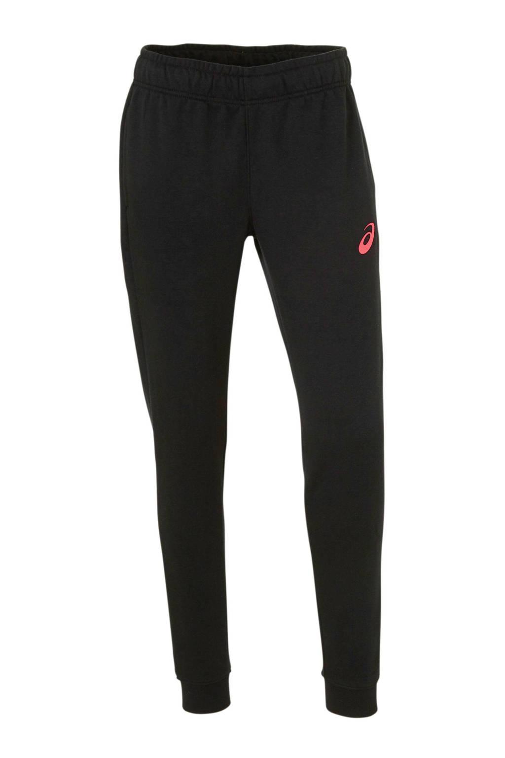 ASICS joggingbroek zwart/roze, Zwart