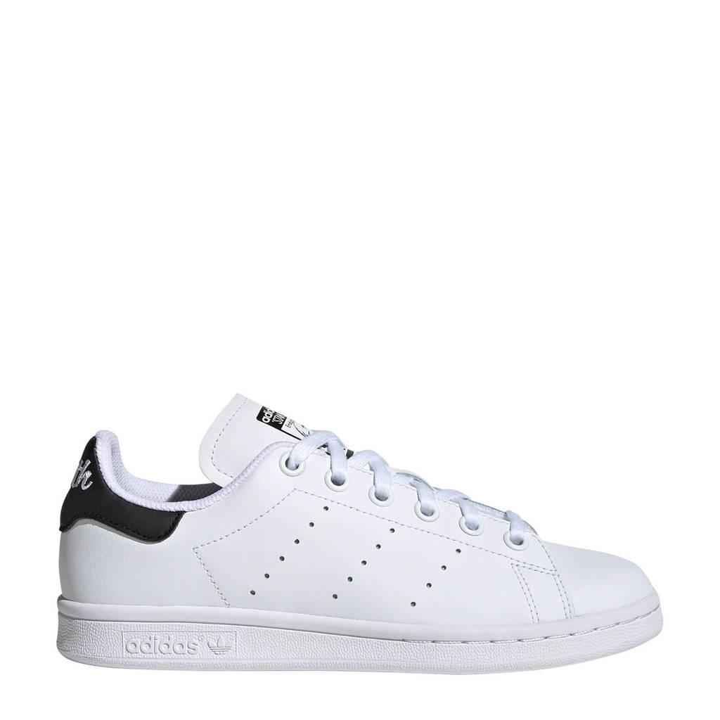 adidas originals Stan Smith J leren sneakers wit/zwart, Wit/zwart