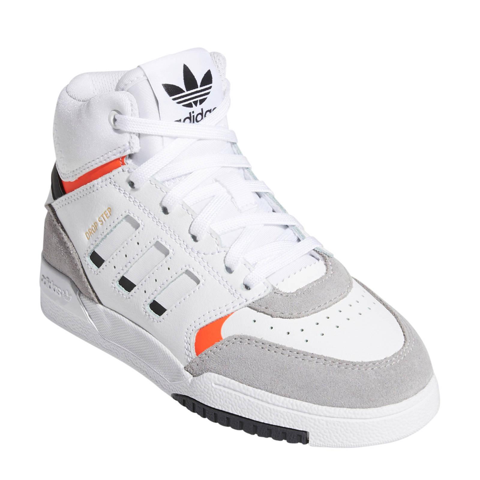 adidas originals Drop Step leren sneakers witlichtgrijs