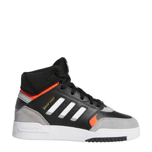 adidas originals Drop Step leren sneakers zwart-lichtgrijs-rood