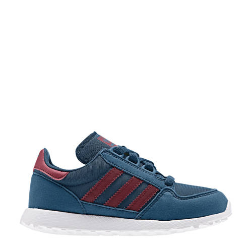 adidas originals Forest Grove C suède sneakers blauw-rood