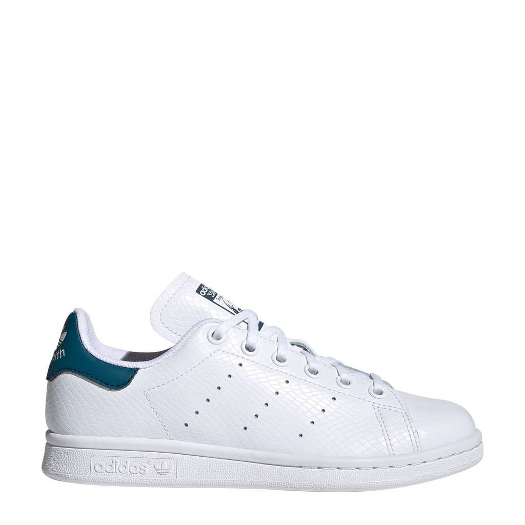 adidas originals Stan Smith J leren sneakers wit/blauw, Wit/blauw