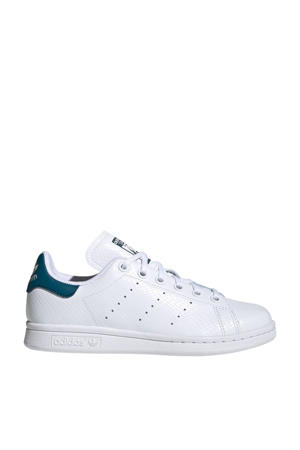 originals Stan Smith J leren sneakers wit/blauw