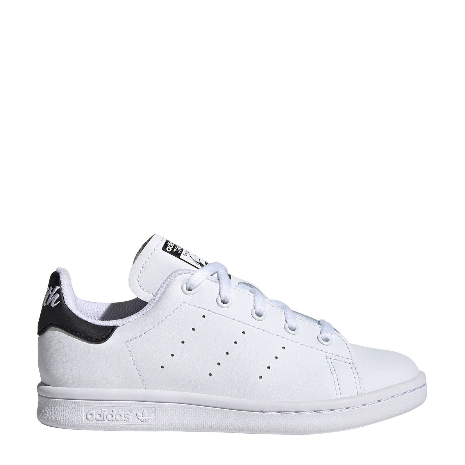 adidas Originals Stan Smith C leren sneakers witzwart | wehkamp