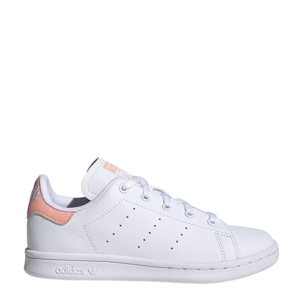 adidas Originals Stan Smith C leren sneakers wit/lichtroze, Wit/lichtroze