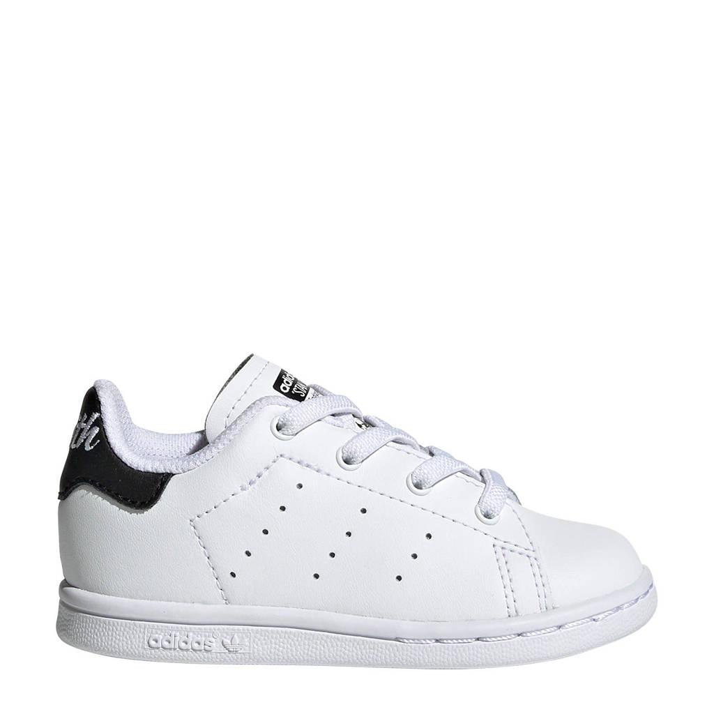 adidas Originals  STAN SMITH C leren sneakers wit/zwart, Wit/zwart