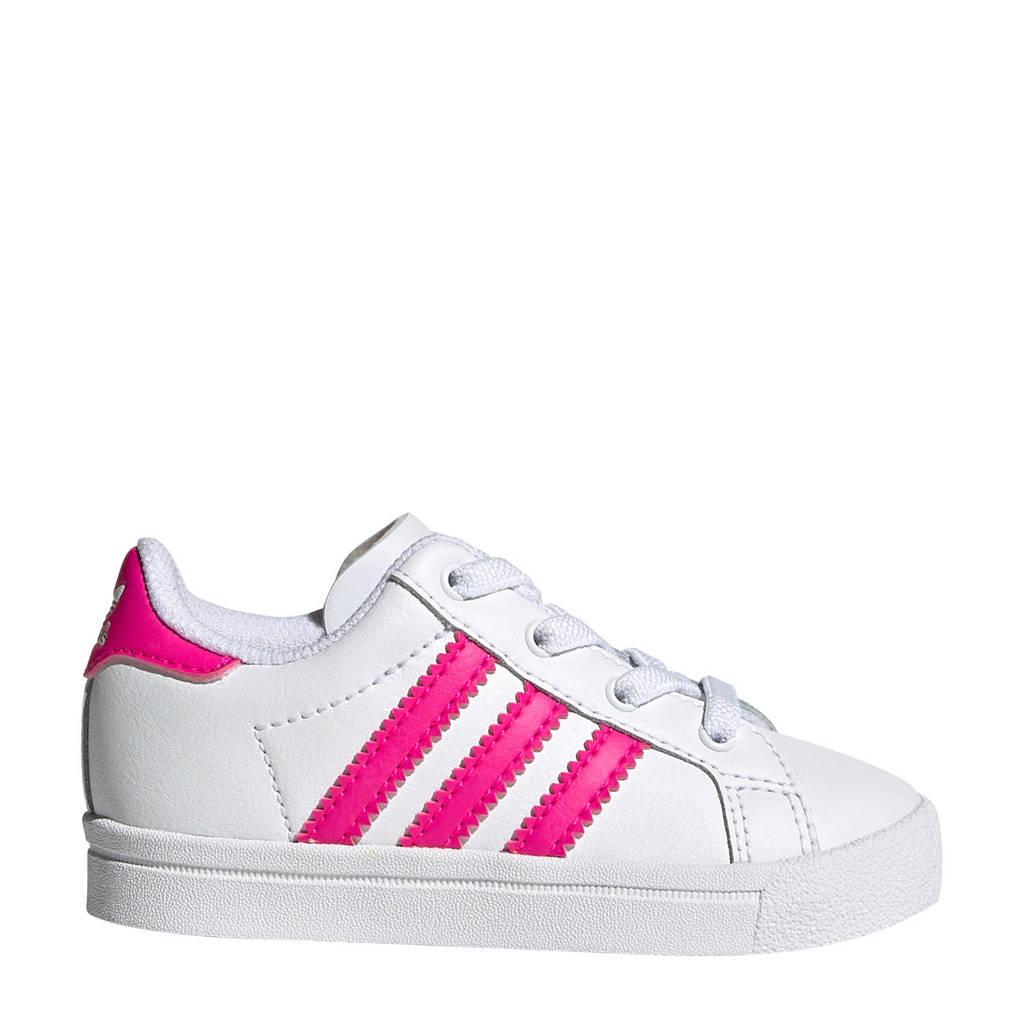 adidas Originals Coast Star J EL I Coast Star EL I sneakers wit/roze, Wit/roze