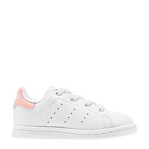 STAN SMITH C leren sneakers wit/lichtroze