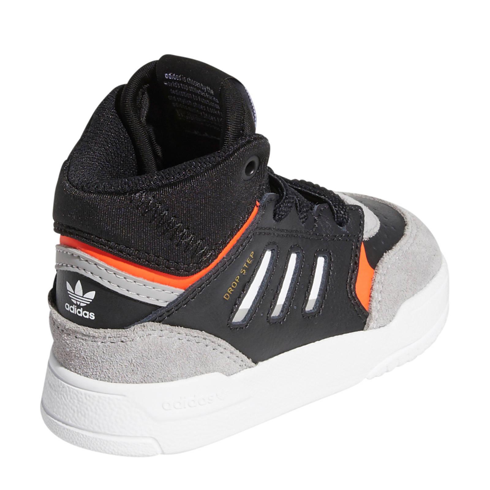 Drop Step leren sneakers witlichtgrijsrood