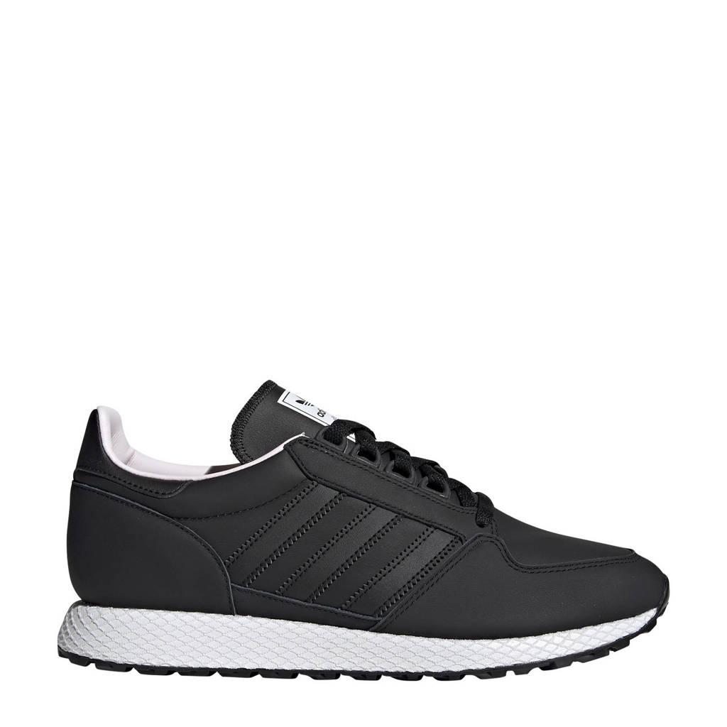 adidas originals Forest Grove  leren sneakers zwart, Zwart