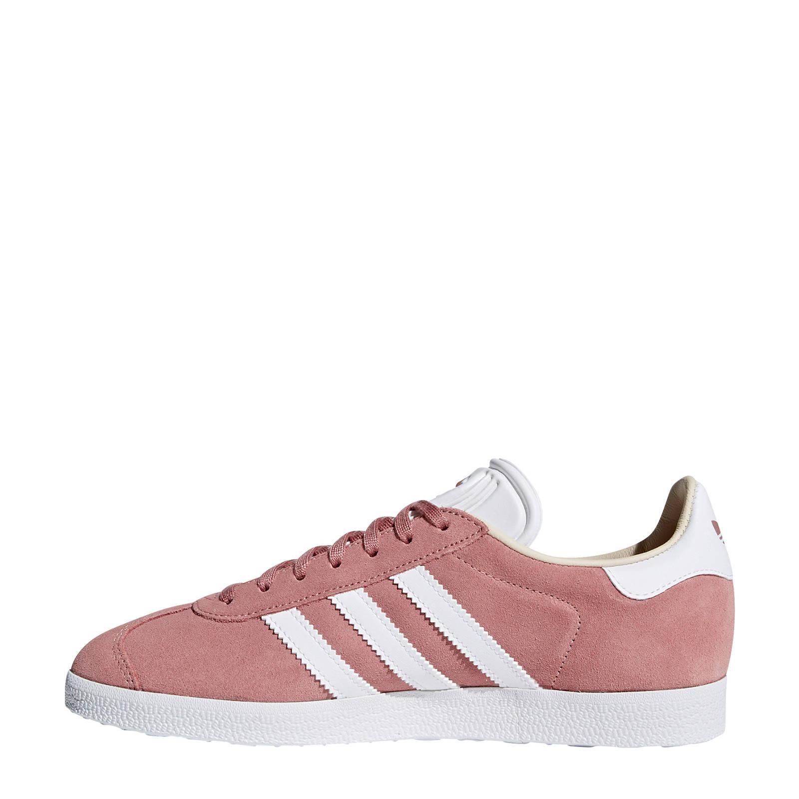 Gazelle sneakers oudroze/wit
