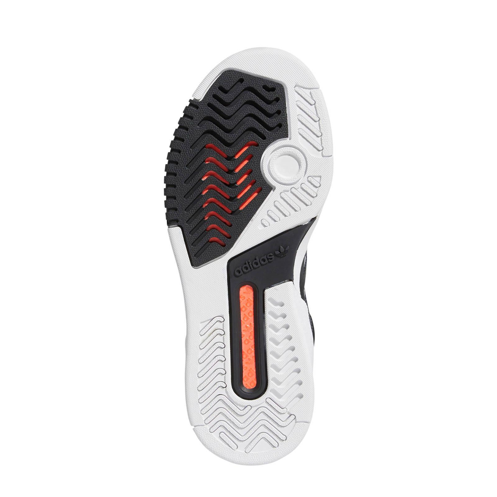 Drop Step leren sneakers zwartlichtgrijsrood