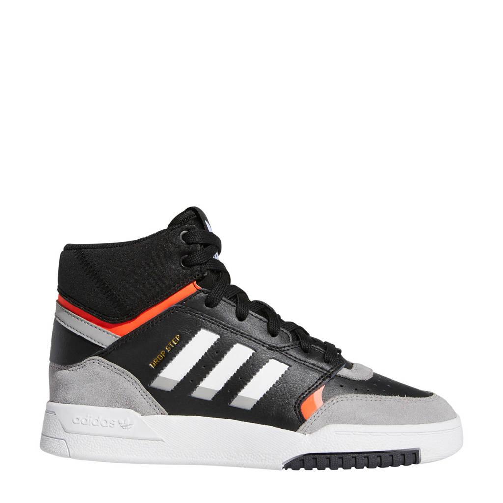 adidas Originals Drop Step  leren sneakers zwart/lichtgrijs/rood, Zwart/lichtgrijs/rood