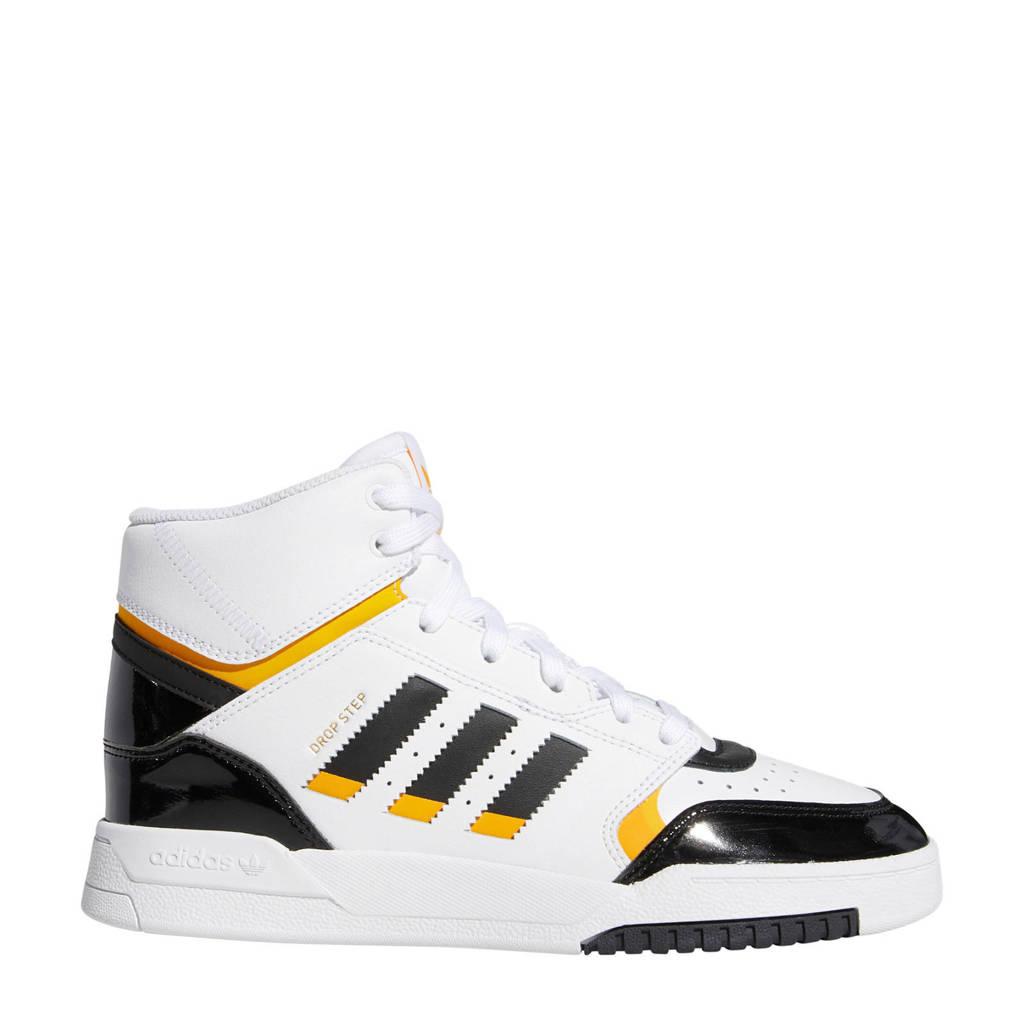 adidas Originals Drop Step  leren sneakers wit/zwart/geel, Wit/zwart/geel