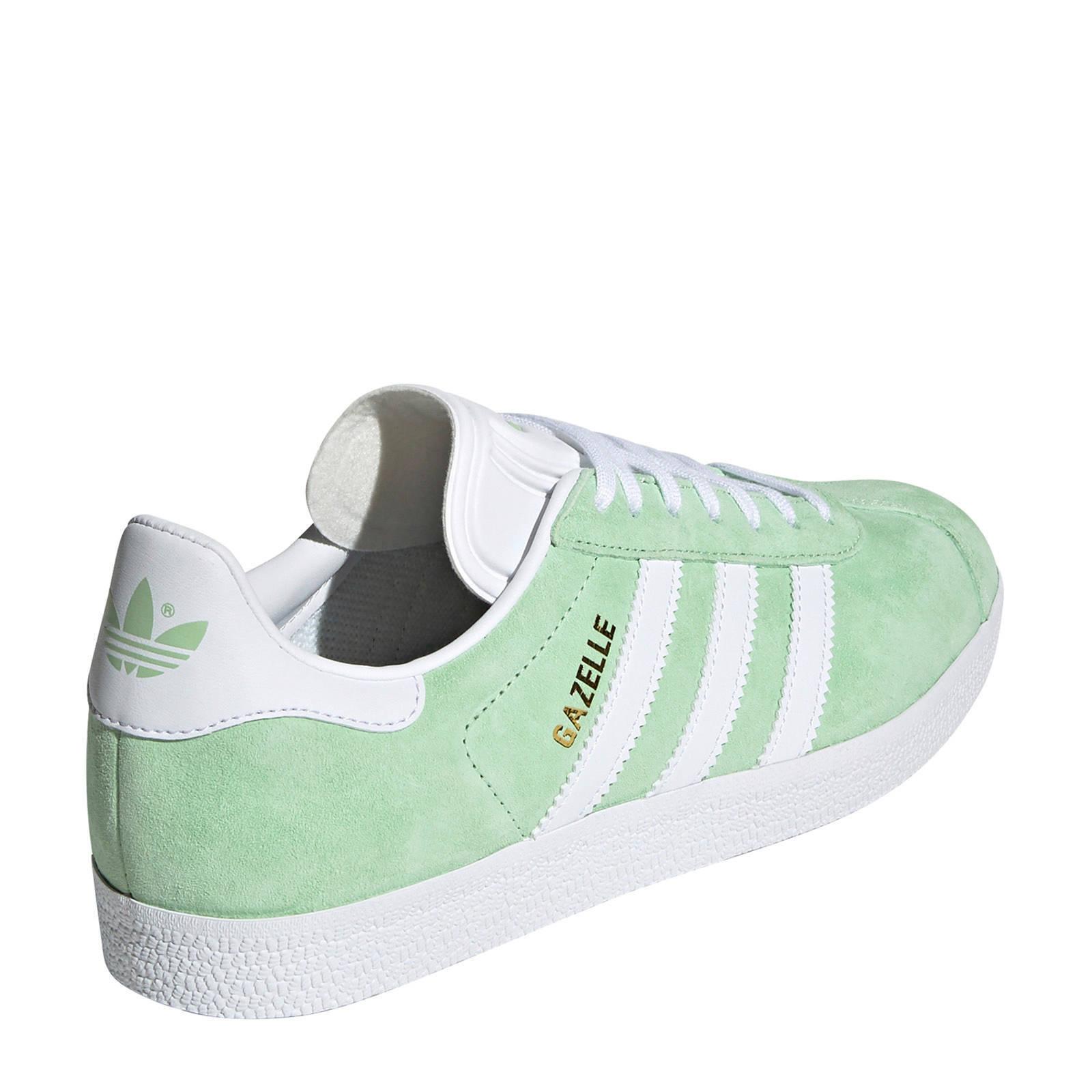 Gazelle sneakers lichtgroen/wit