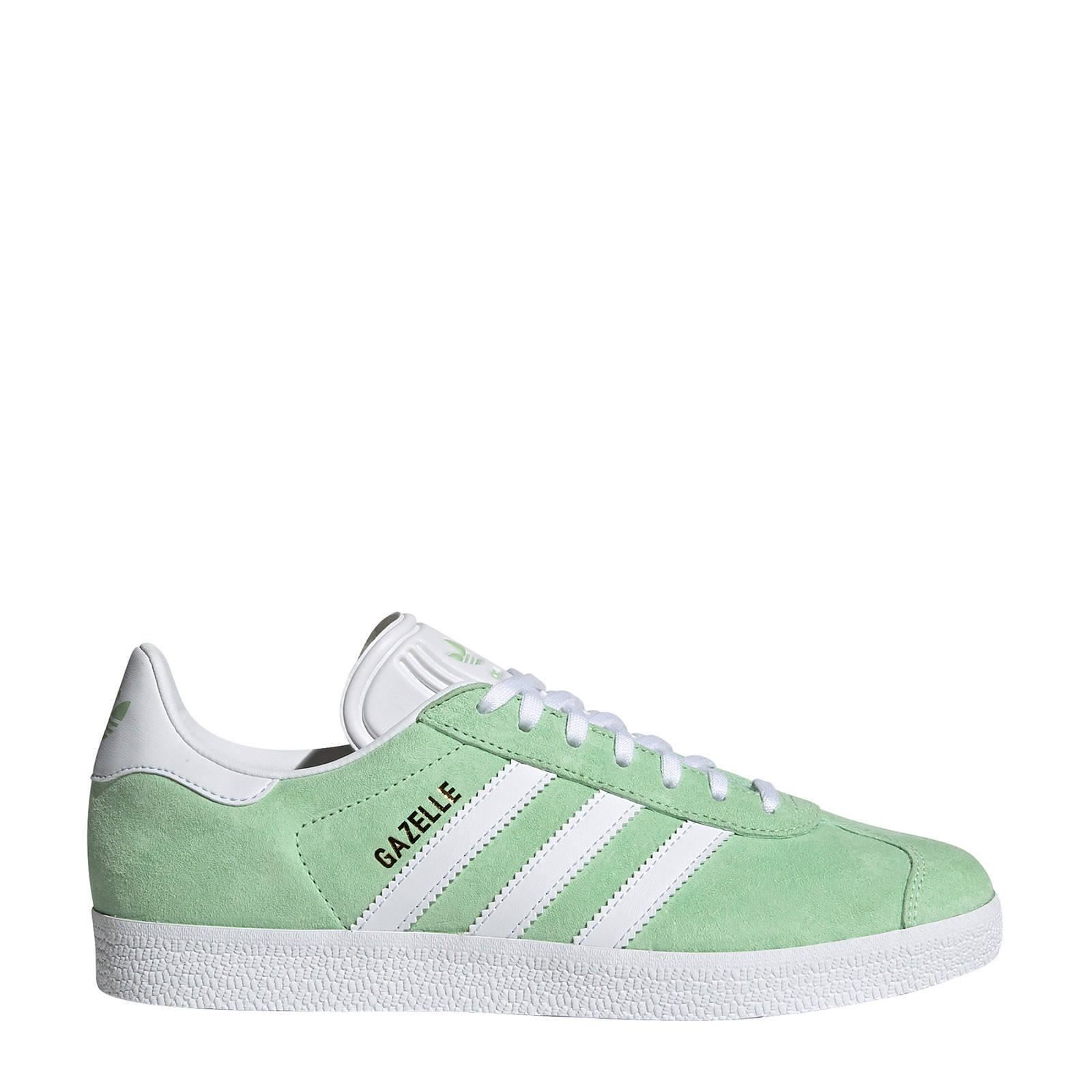 adidas originals Gazelle sneakers lichtgroen/wit | wehkamp