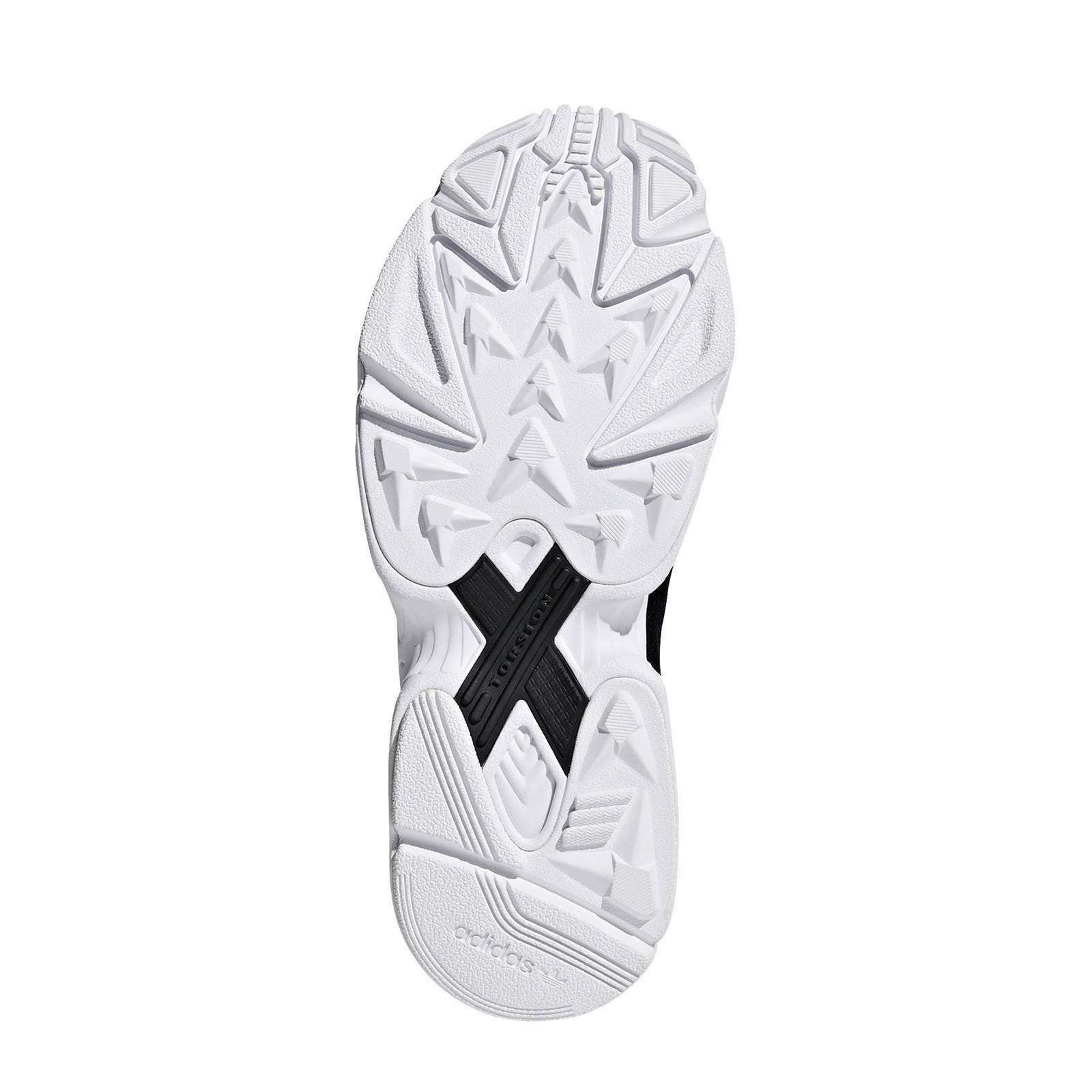 adidas Originals Falcon sneakers zwart/wit | wehkamp