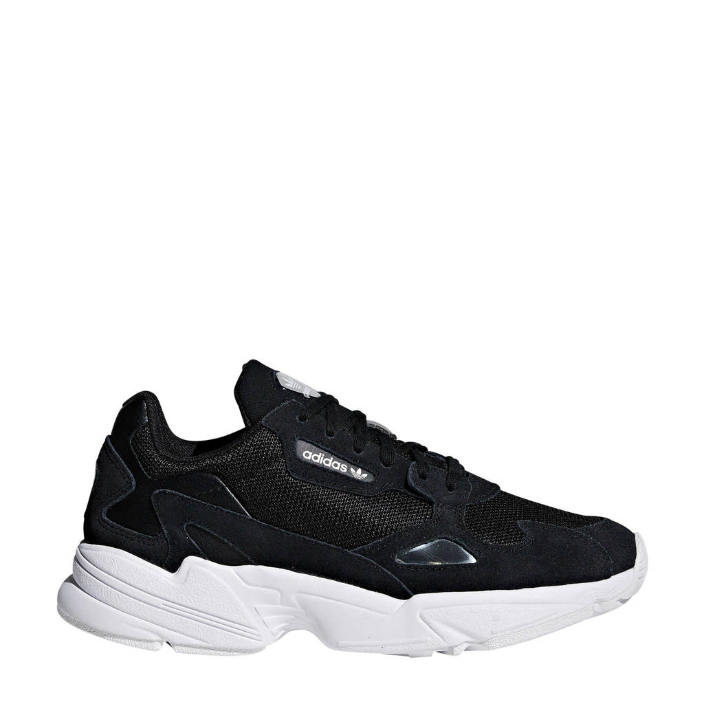 adidas originals  Falcon sneakers zwart/wit, Zwart/wit