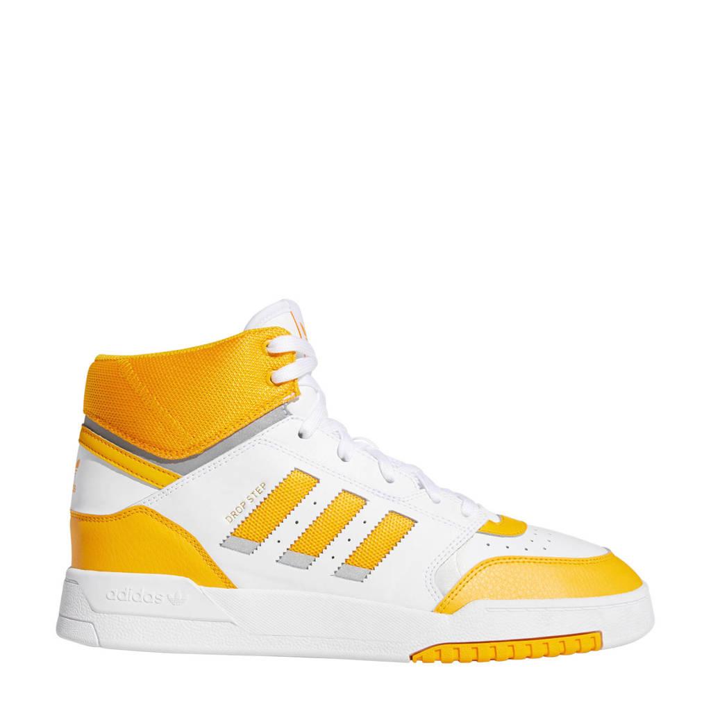 adidas originals Drop Step  leren sneakers wit/geel, Wit/geel