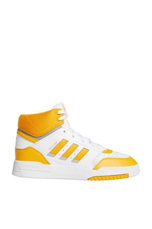 Drop Step  leren sneakers wit/geel