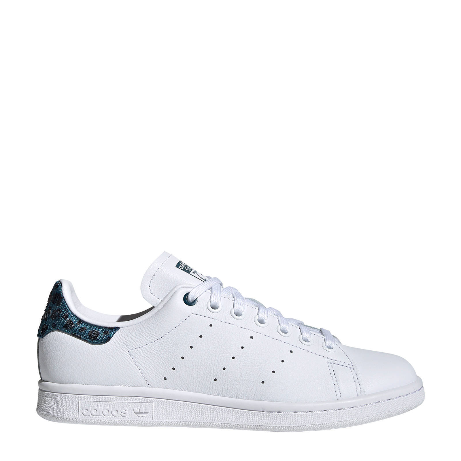 adidas Originals Stan Smith leren sneakers witblauw print