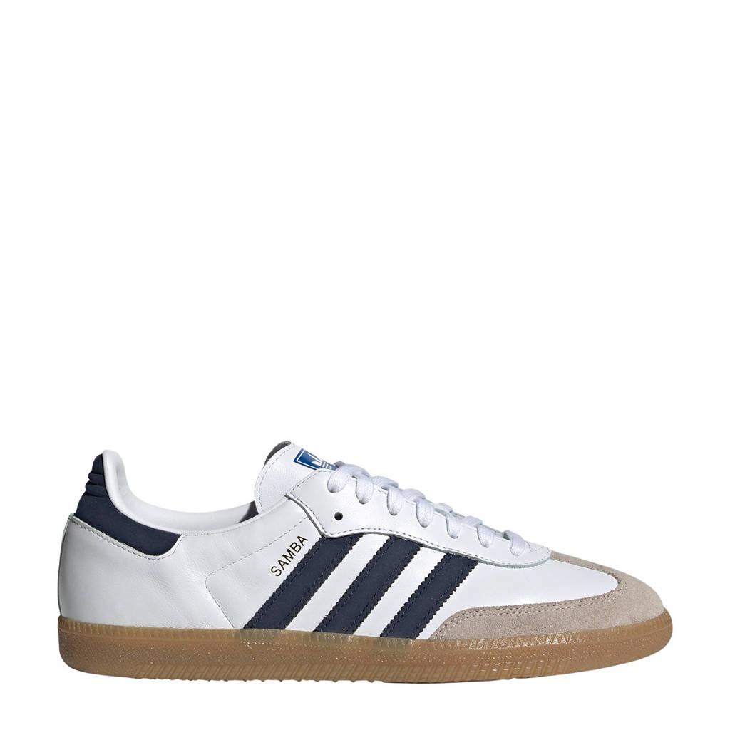 adidas Originals Samba OG sneakers wit/blauw, Wit/blauw
