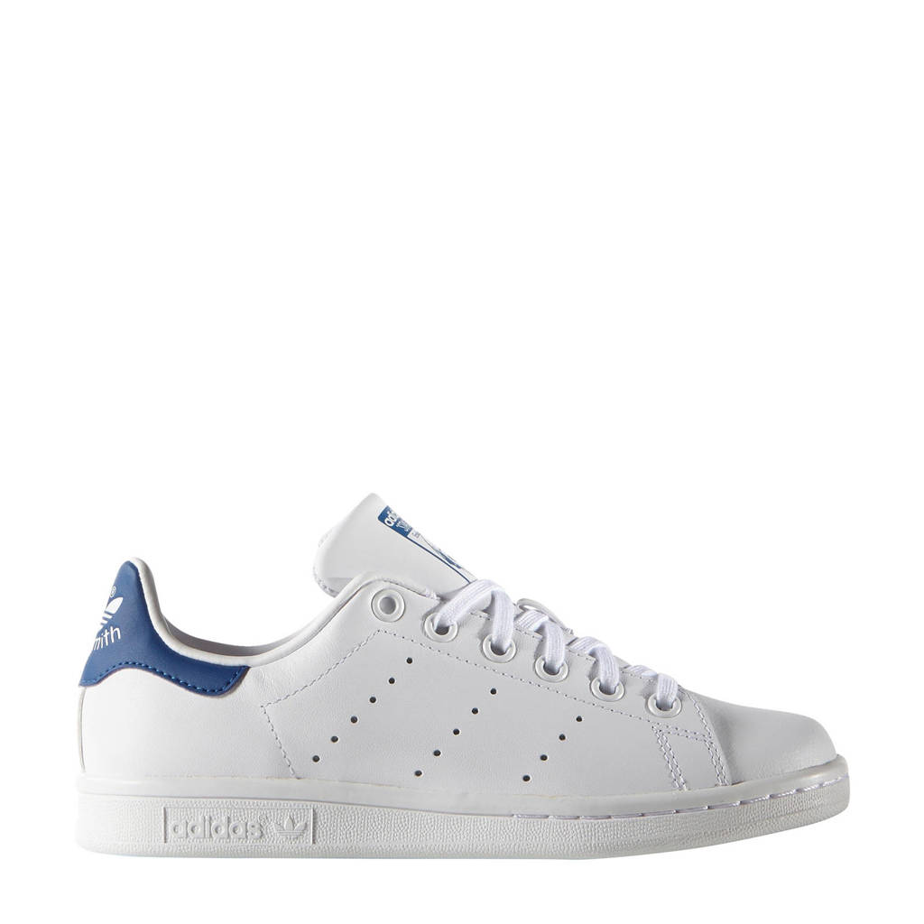 adidas originals Stan Smith J  sneakers wit/blauw, Wit/blauw