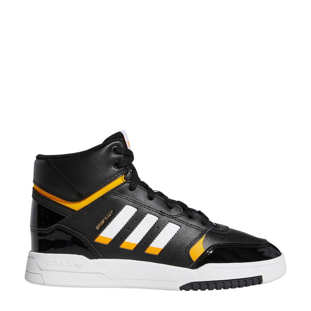 adidas originals Drop Step  leren sneakers zwart/wit/geel, Zwart/wit/geel