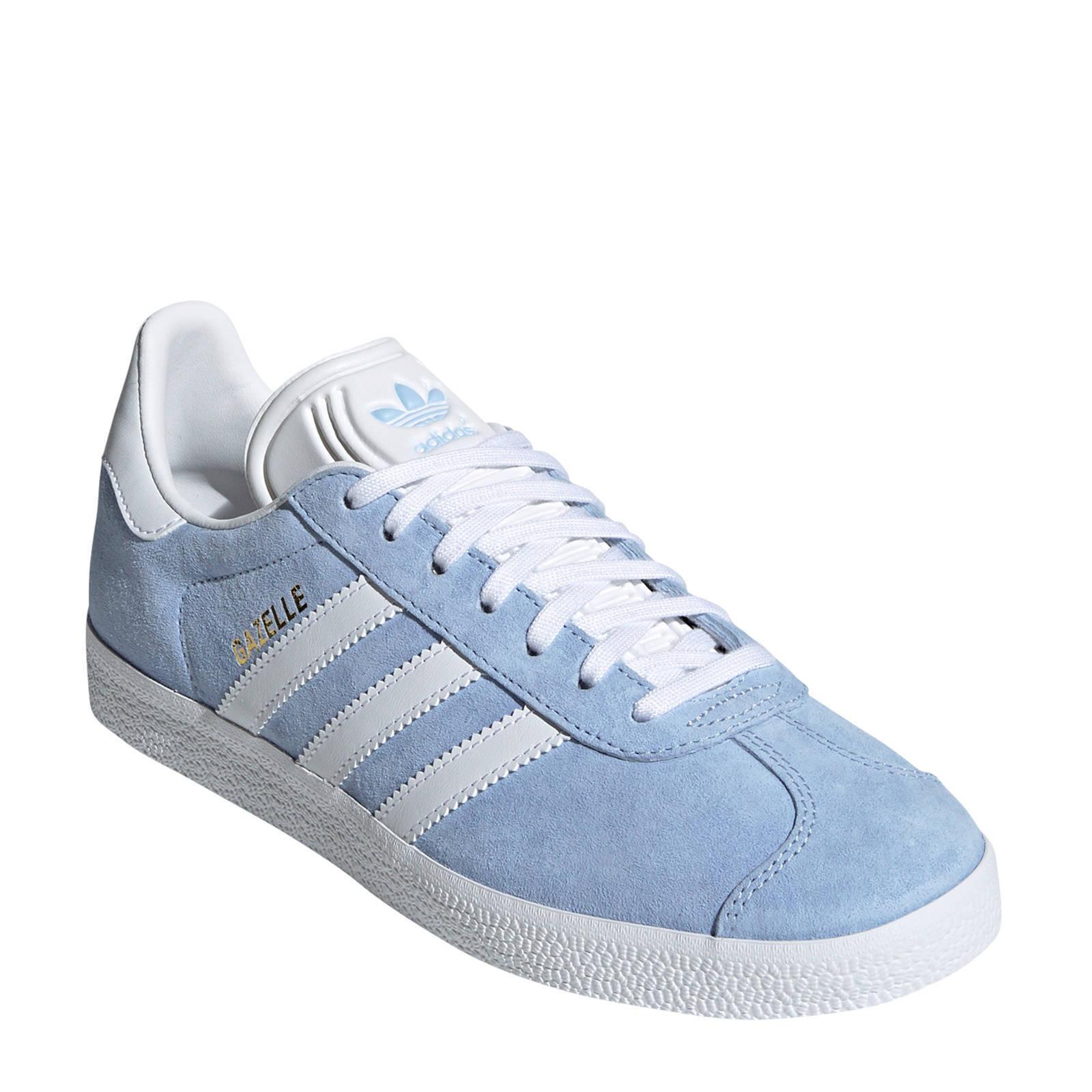 adidas originals Gazelle sneakers lichtblauw/wit | wehkamp