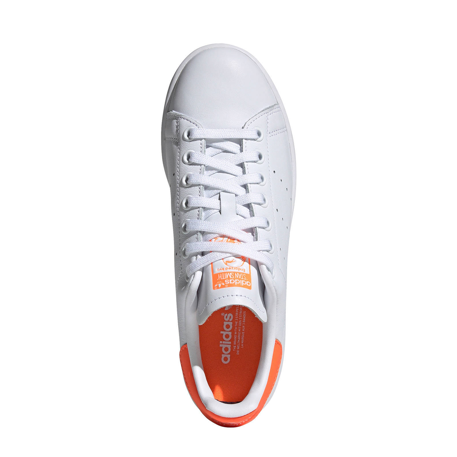 Stan Smith leren sneakers witoranje