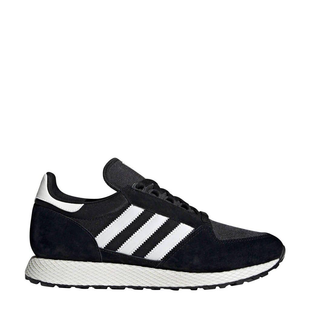 adidas originals Forest Grove  suède sneakers zwart, Zwart