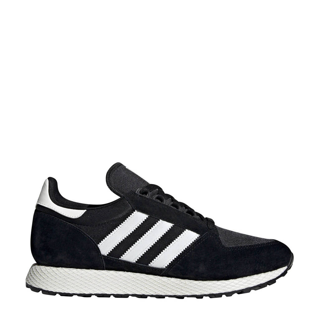 adidas Originals Forest Grove  suède sneakers zwart, Zwart