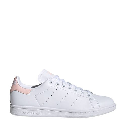 adidas originals Stan Smith leren sneakers wit-lichtroze