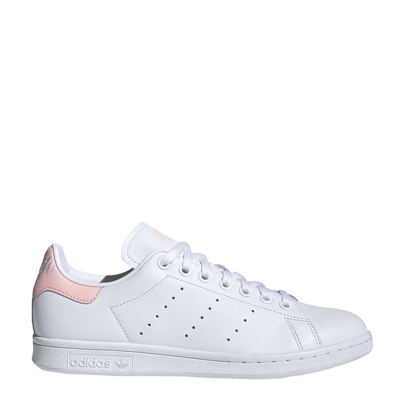 Stan Smith leren sneakers wit/lichtroze