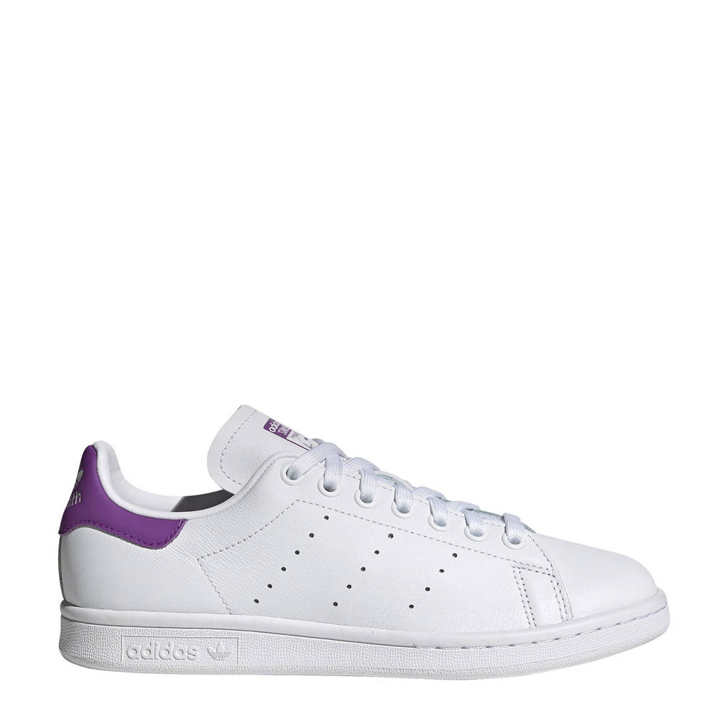 adidas Originals Stan Smith  leren sneakers wit/paars, Wit/paars