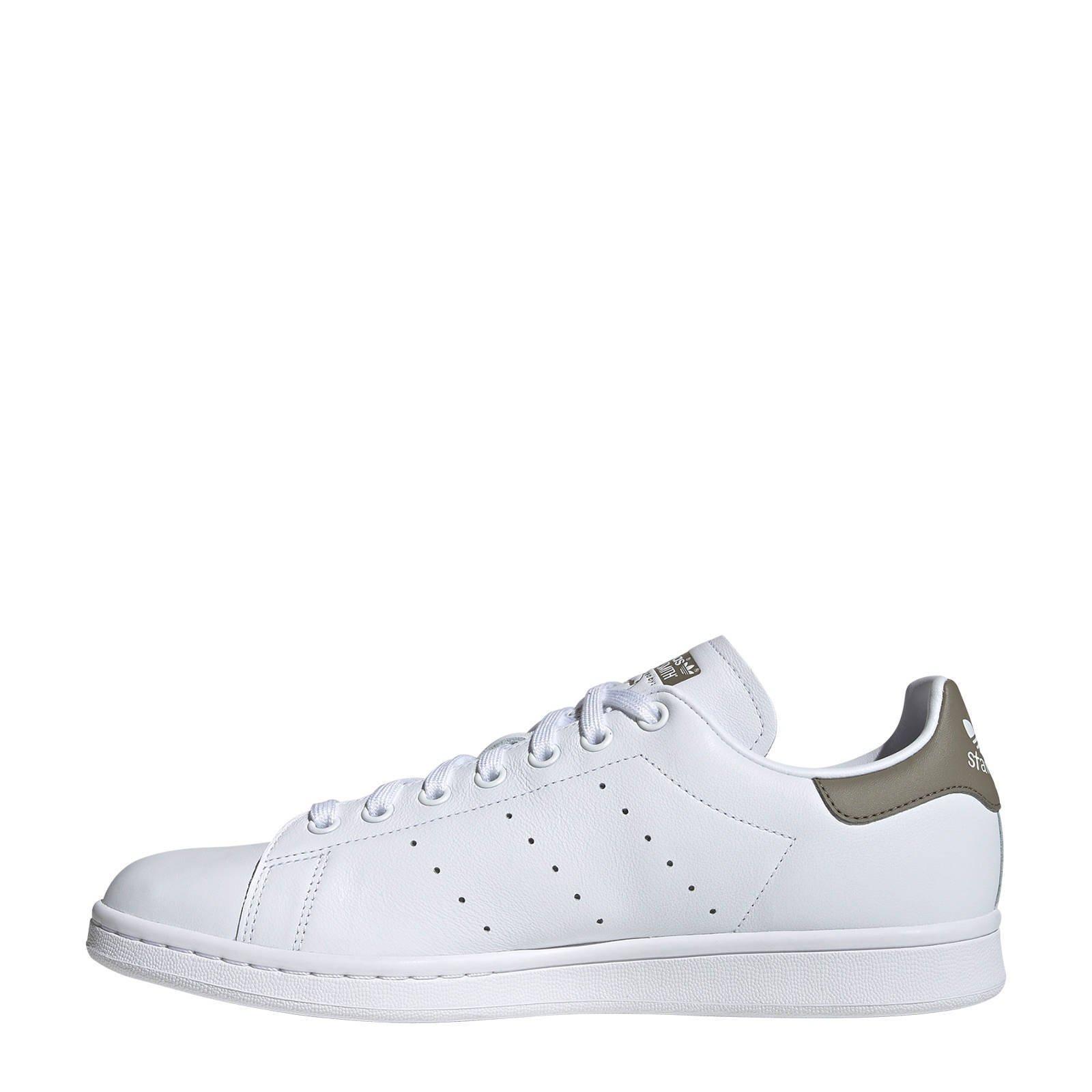 adidas originals Stan Smith sneakers wit/olijfgroen   wehkamp