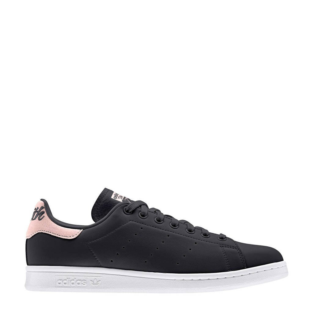 adidas originals Stan Smith  leren sneakers zwart/roze, Zwart/roze