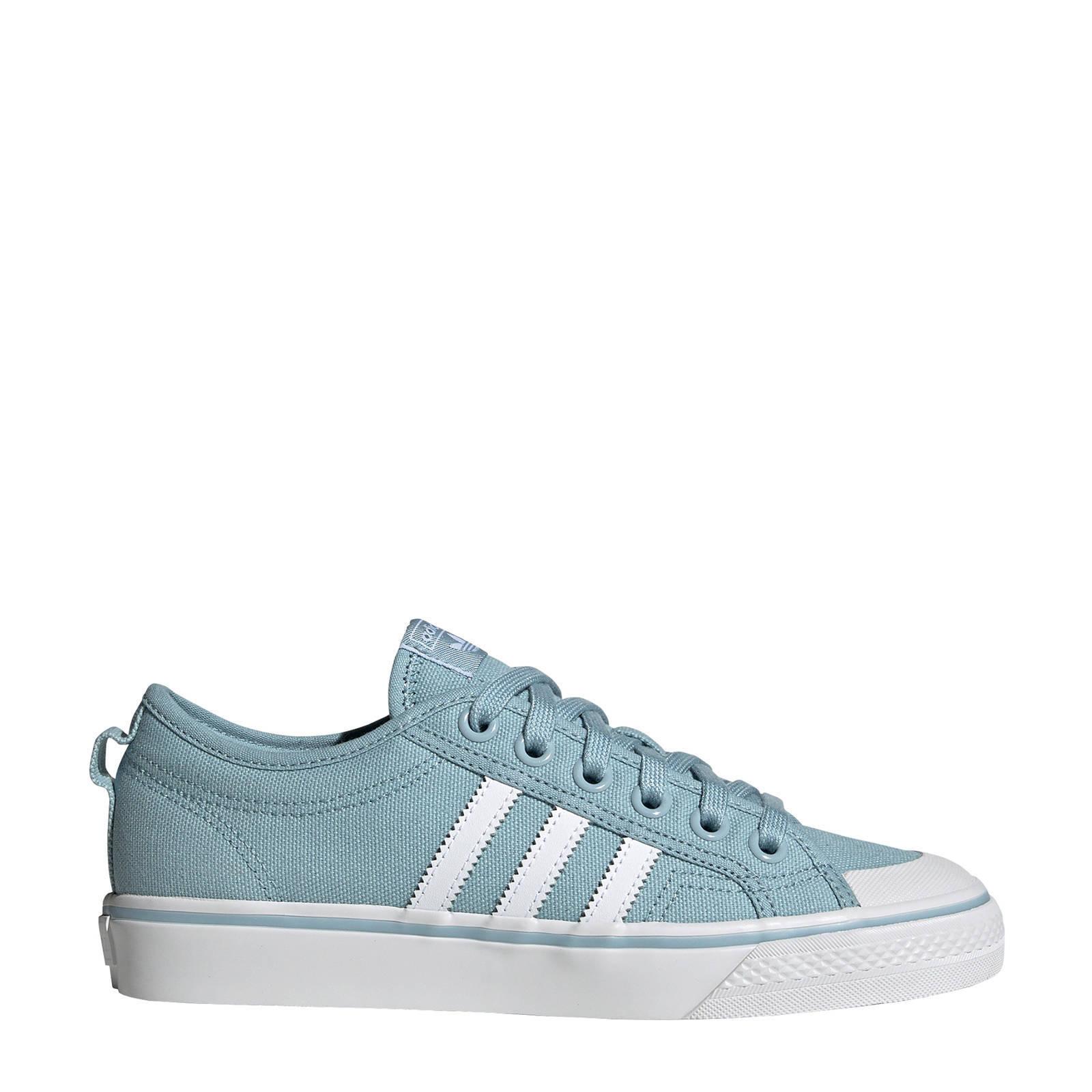 adidas Originals Nizza W sneakers lichtblauw | wehkamp