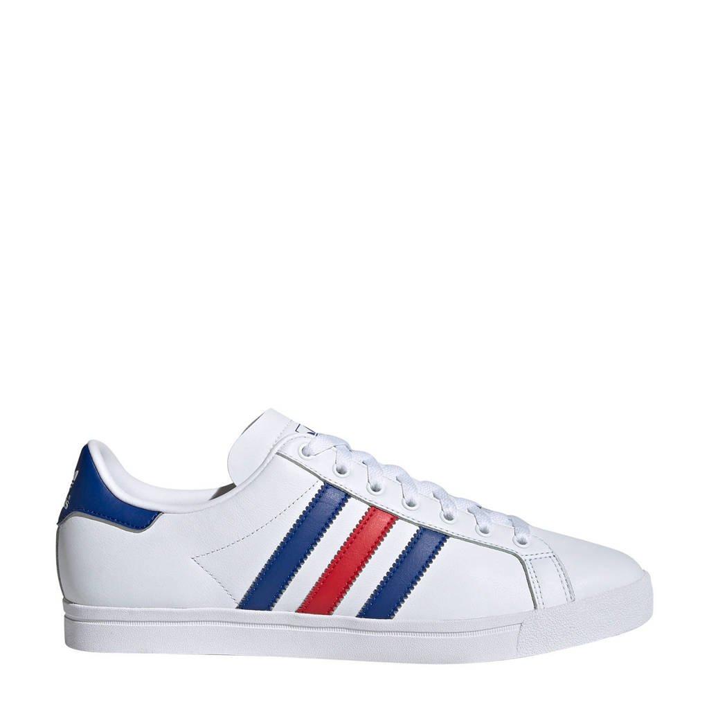 adidas originals Coast Star J sneakers wit/rood/blauw, Wit/rood/blauw