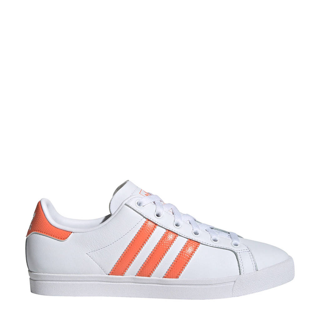 adidas originals Coast Star J sneakers wit/koraalrood, Wit/koraalrood