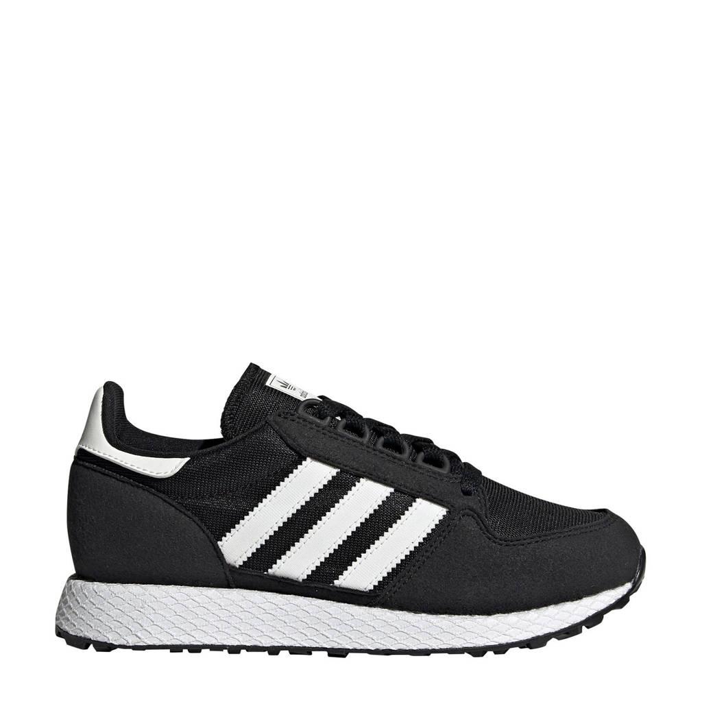 adidas Originals  Forest Grove J suède sneakers zwart/wit, Zwart/wit