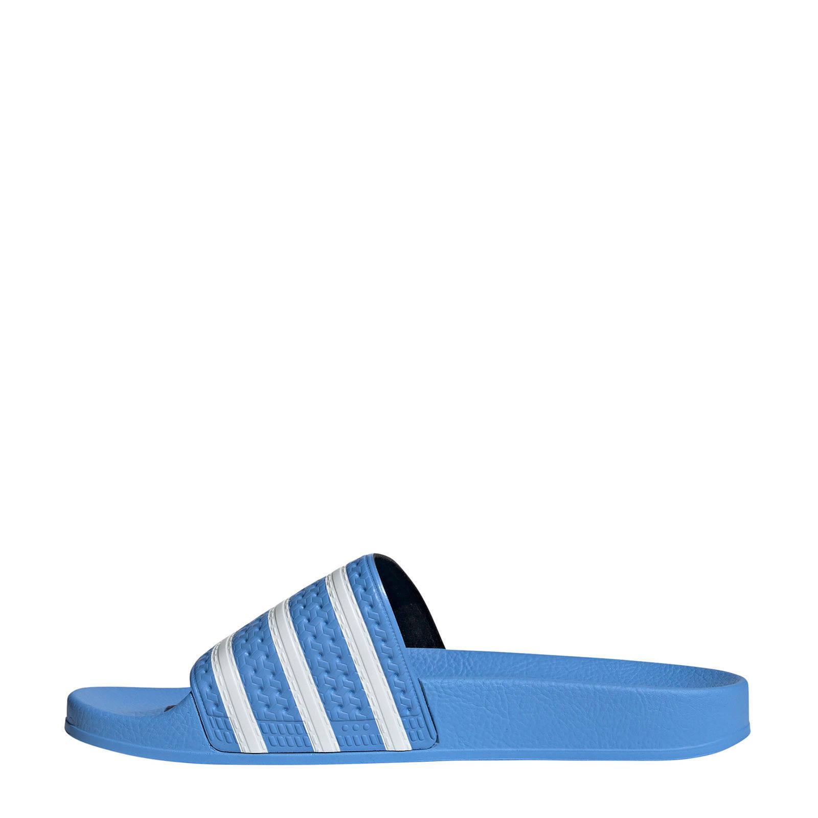 adilette badslippers blauw
