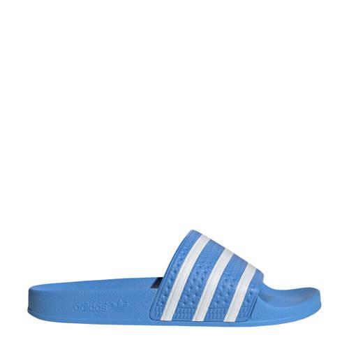 adidas originals adilette badslippers blauw