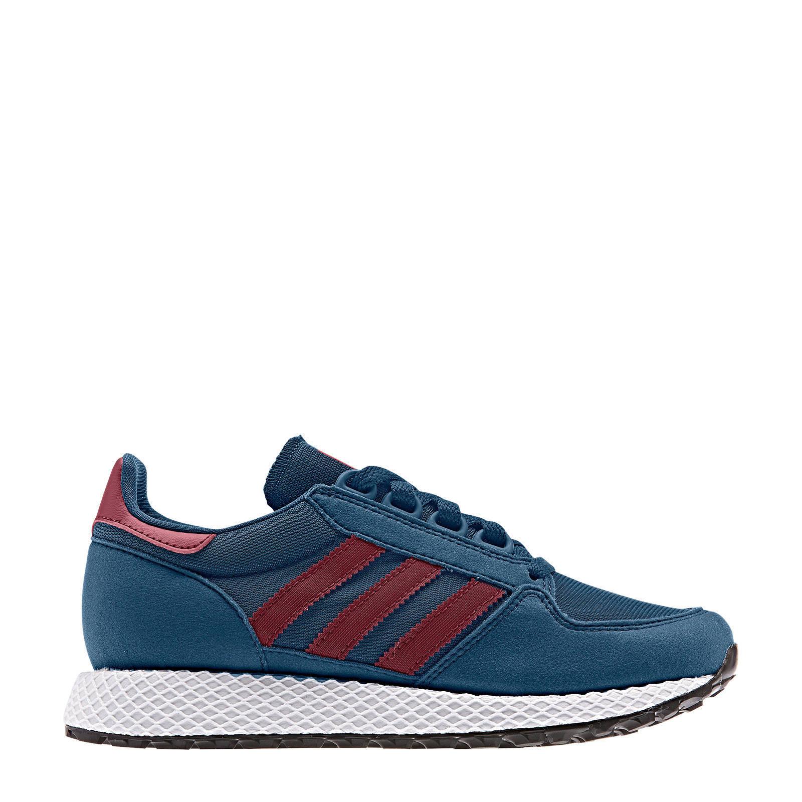 adidas originals Forest Grove J suède sneakers blauwrood