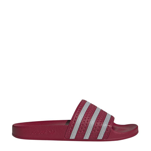 adidas originals Adilette badslippers bordeauxrood
