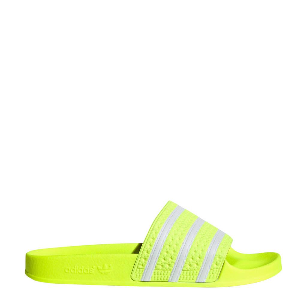 adidas Originals   adilette badslippers neon geel, neon geel/wit