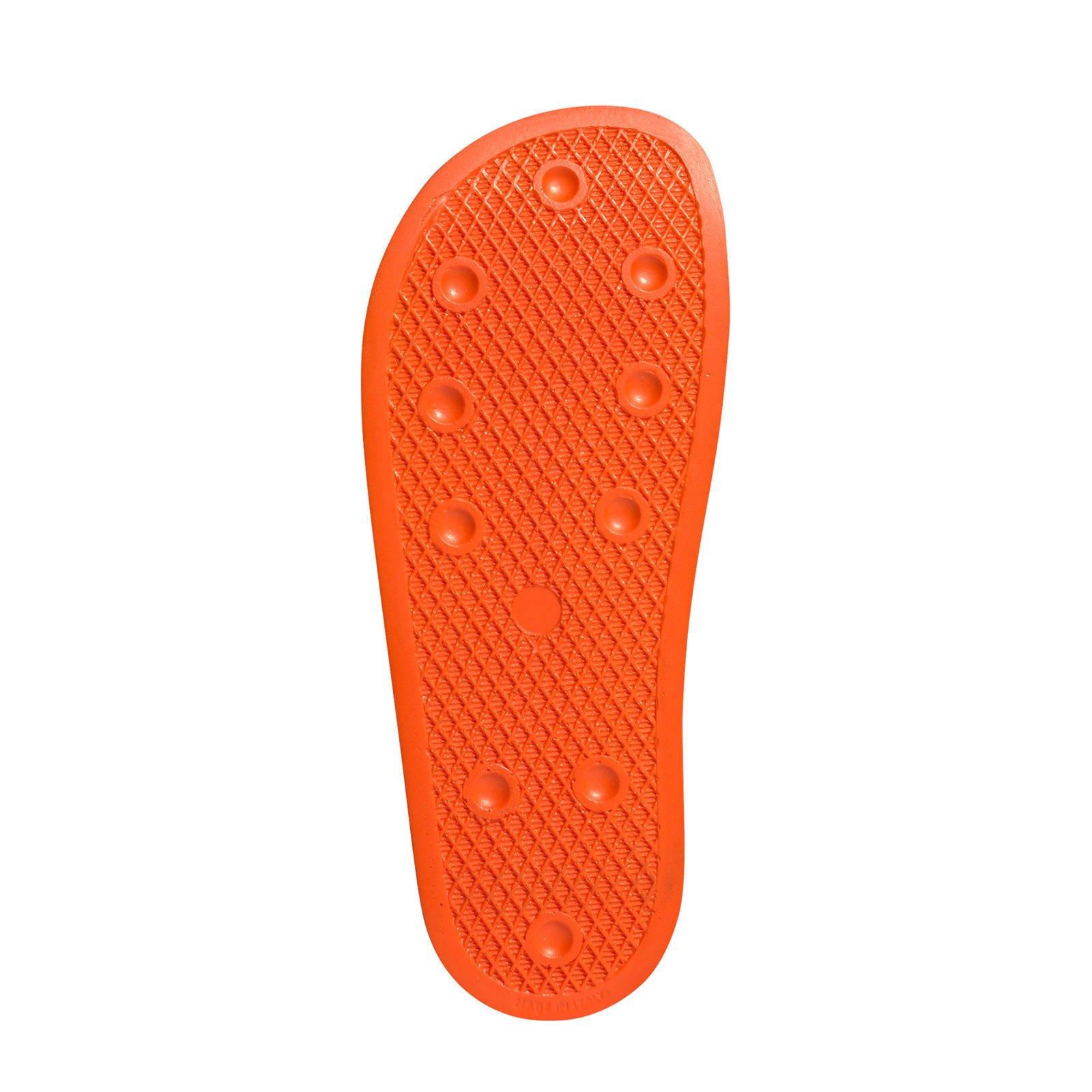 adidas originals adilette badslippers oranje | wehkamp