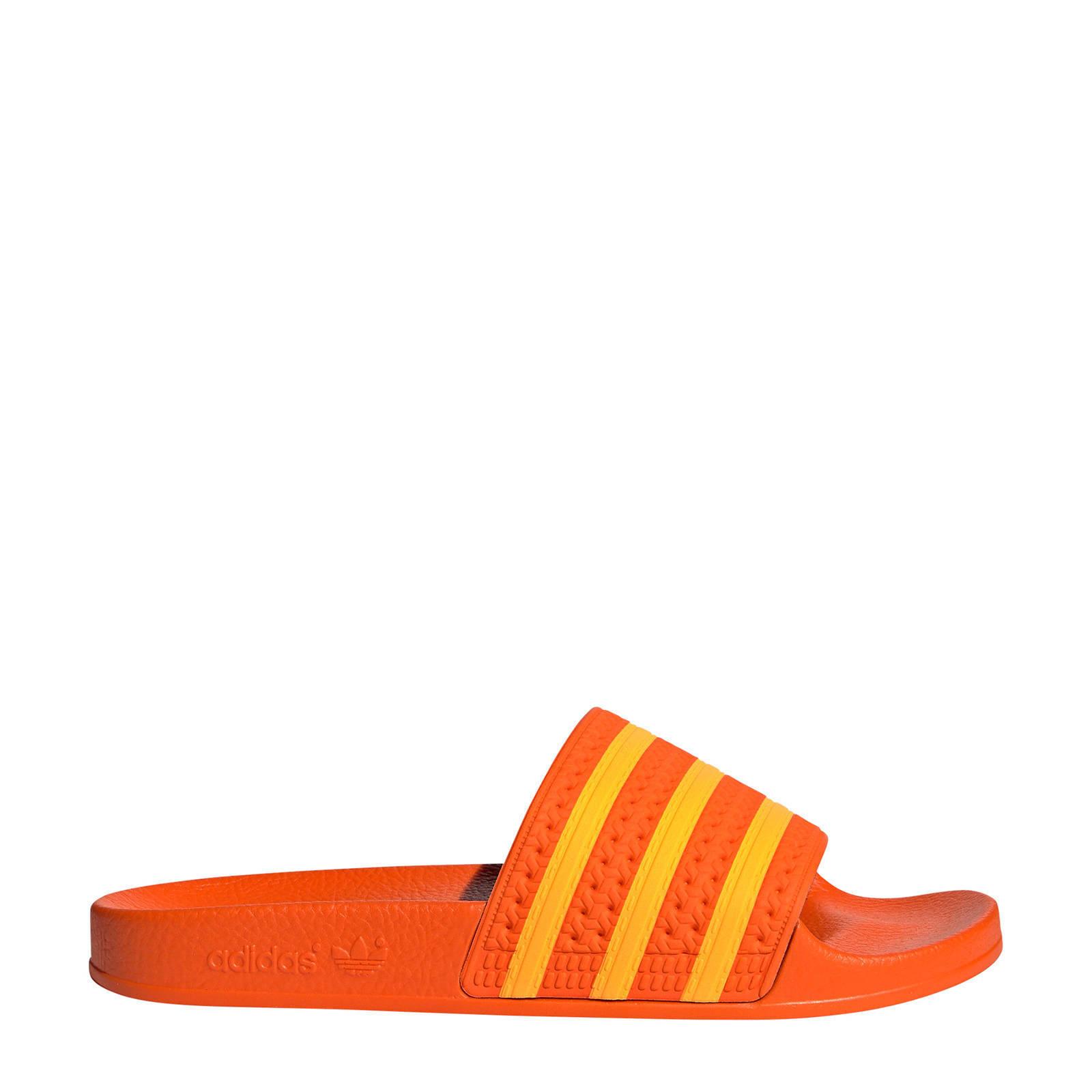 adilette badslippers oranje
